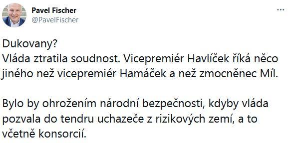 Pavel Fischer se zlobí