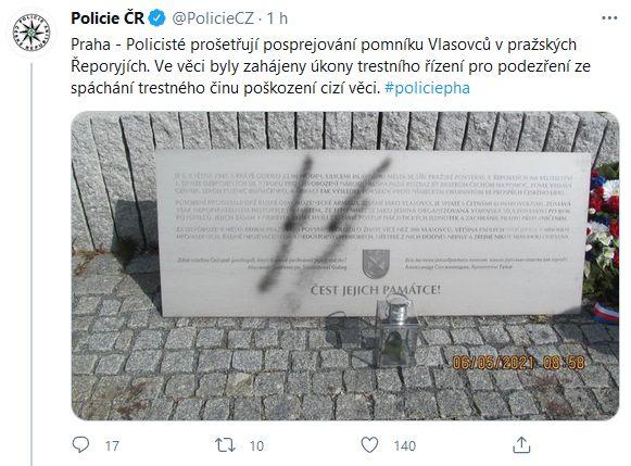 Vandalismus v Řeporyjích