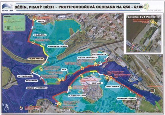 Děčín - protipovodňová ochrana