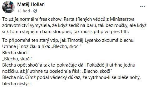 Matěj Hollan přidal vtip