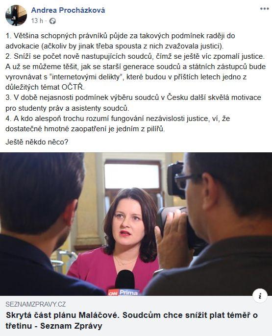 O platech politiků a soudců