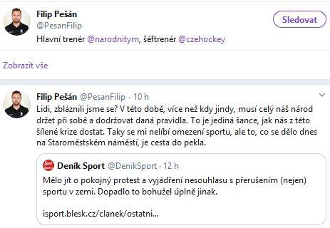 Filip Pešan žádá lidi, aby nebláznili