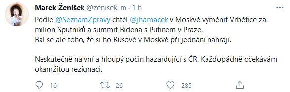 Jan Hamáček pod palbou