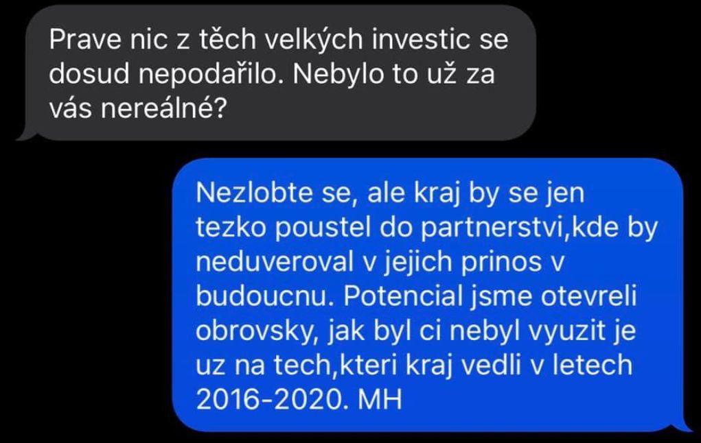 Michal Hašek promluvil o čínských investicích