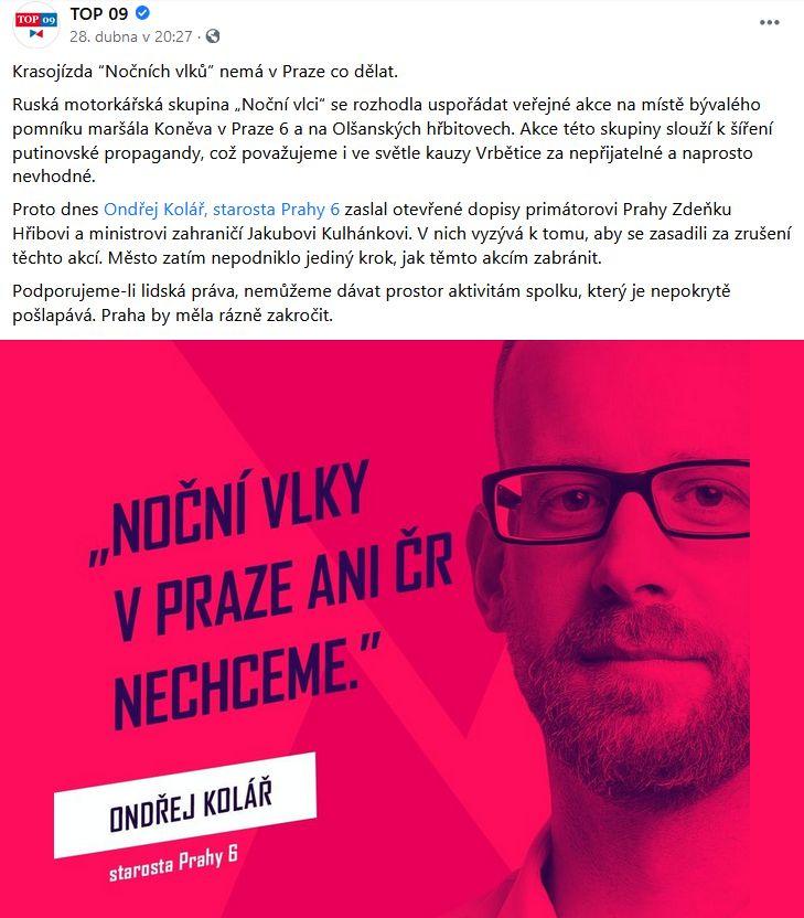 Noční vlci nemají v Praze co dělat