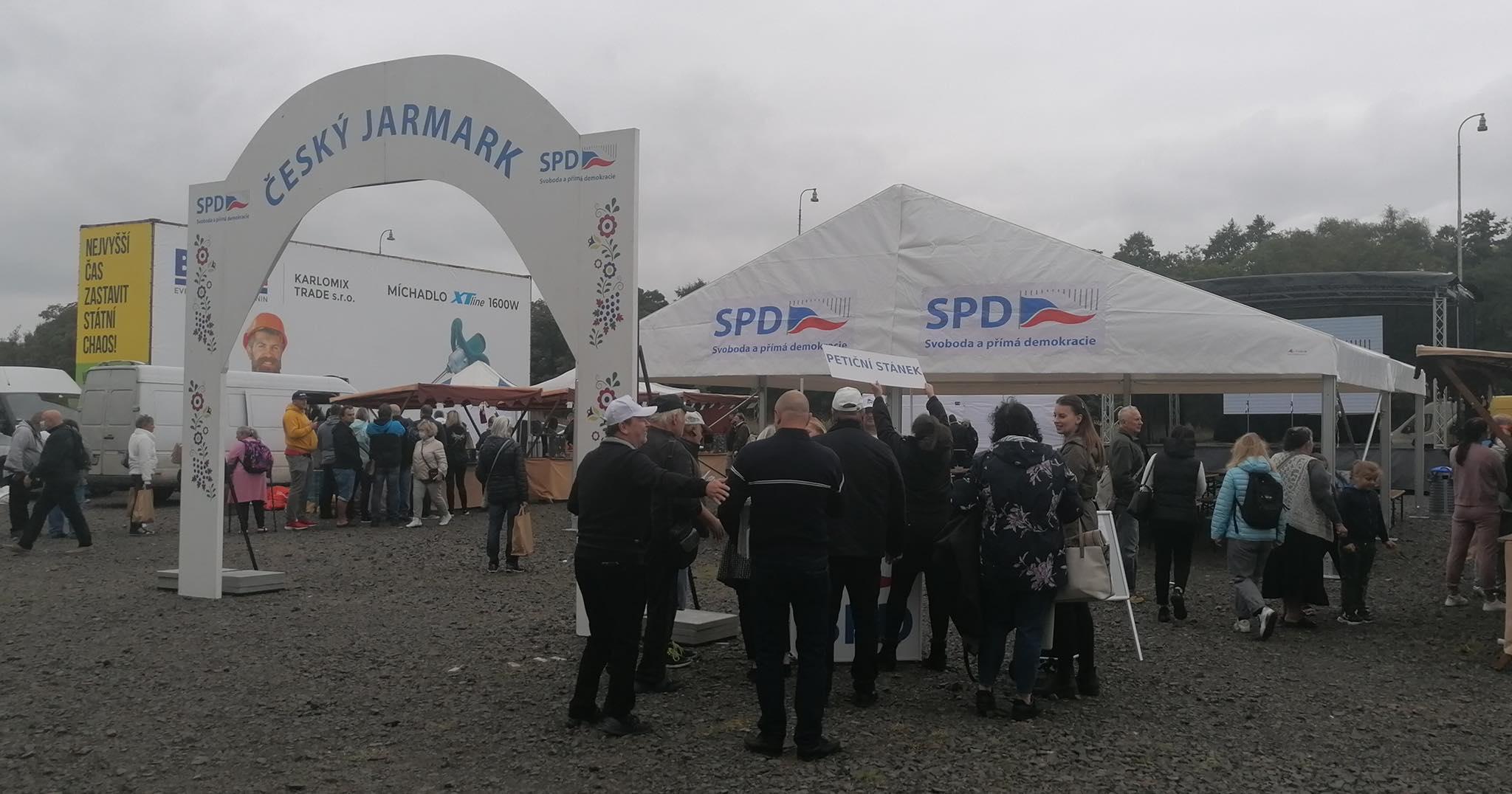 Předvolební akce SPD