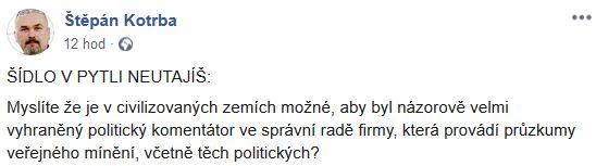 Štěpán Kotrba kritizuje Jindřicha Šídla
