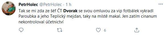 Petr Dvořák pod palbou