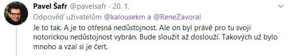Miroslav Kalousek se zlobí