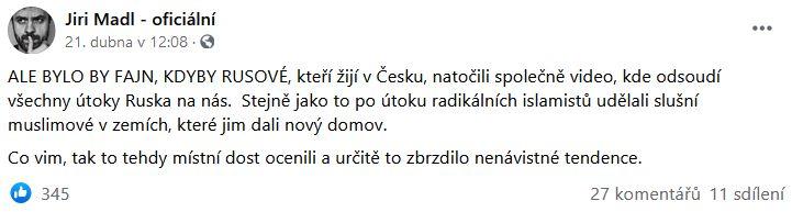 Jiří Mádl promluvil