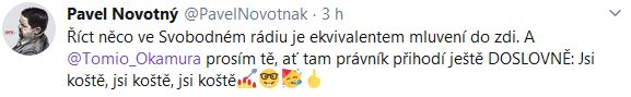 Pavel Novotný sdělil Okamurovi, co si o něm myslí