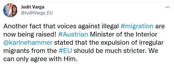 ocenění rakouského ministra vnitra