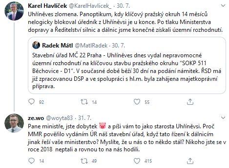Starosta Uhřiněvsi se zlobí na ministra Havlíčka