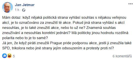 Jan Jetmar o Prague Pride
