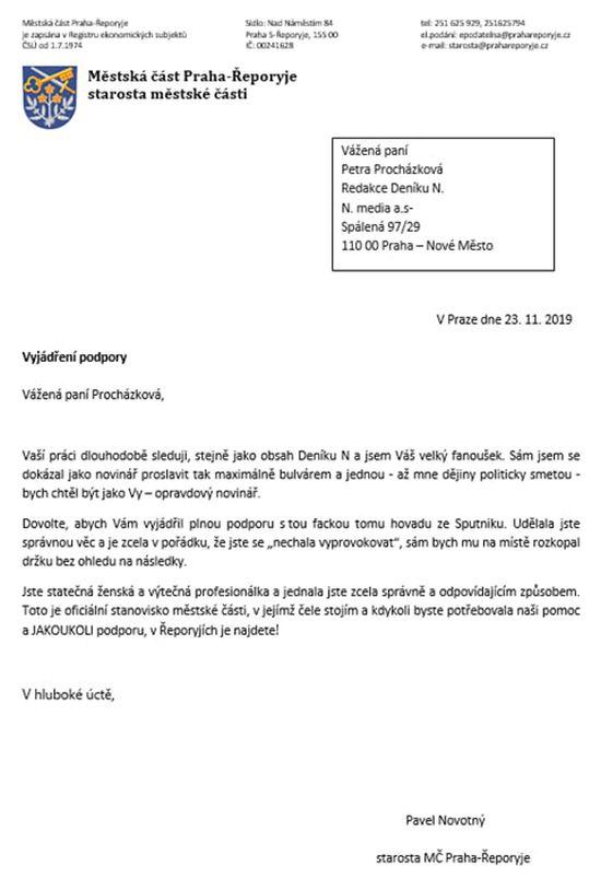 Novotný -. dopis