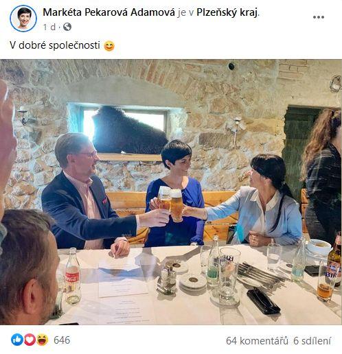 Markéta Pekarová Adamová je spokojená