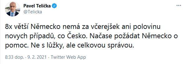Pavel Telička promlouvá