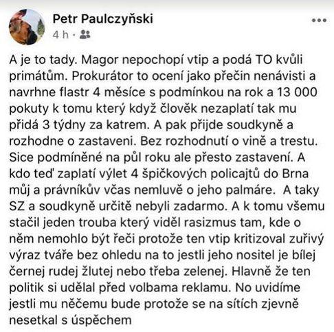 Petr Paulczyňski udeřil na Mariana Jurečku