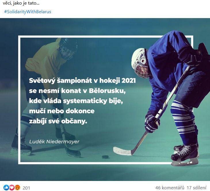 Luděk Niederamyer se vyjádřil k situaci v Bělorusku