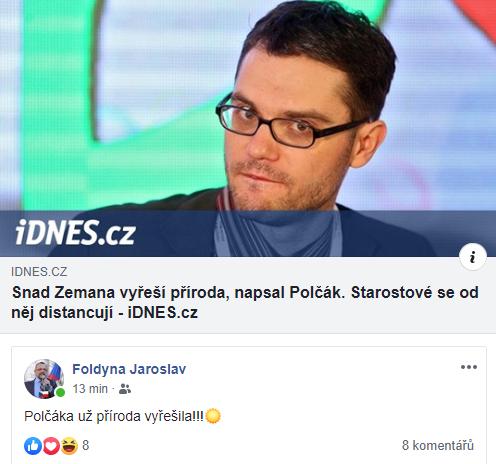 Jaroslav Foldyna reagující na slova Stanislava Polčáka