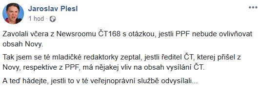 Jaroslav Plesl promlouvá