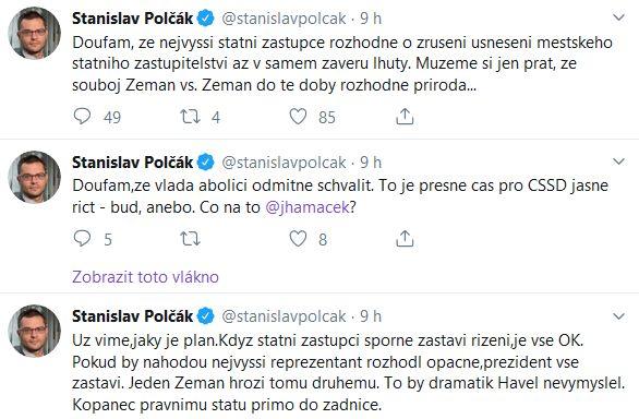 Europoslanec Stanislav Polčák reaguje na slova prezidenta Miloše Zemana