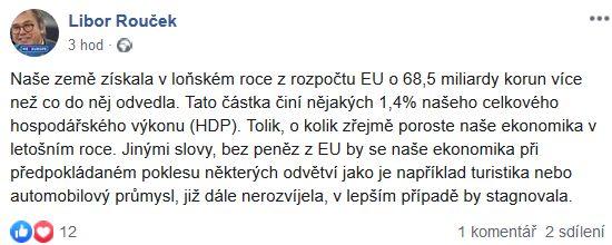 Libor Rouček o české ekonomice