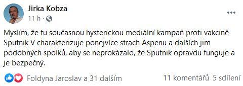 Jiří Kobza spekuluje