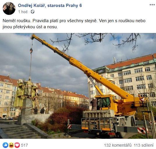 Kolář o pomníku maršála Koněva