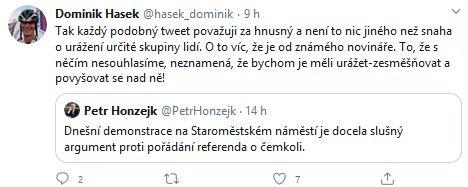 Dominik Hašek se zlobí