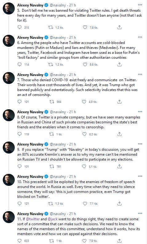 Alexej Navalnyj se zastal Donalda Trumpa