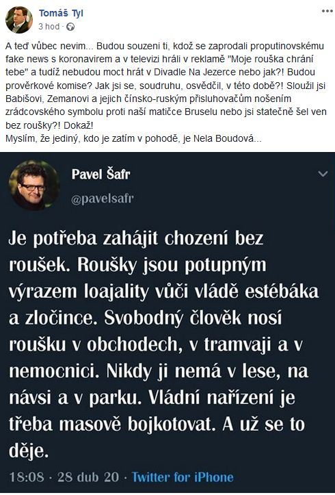 Reakce na slova Pavla Šafra