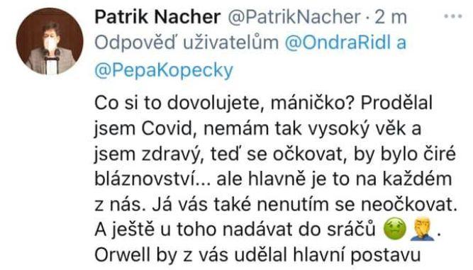 Patrik Nacher pod palbou