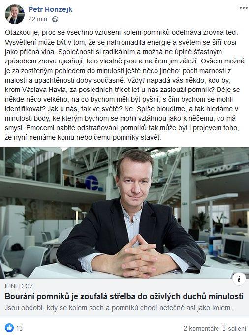 Petr Honzejk promlouvá