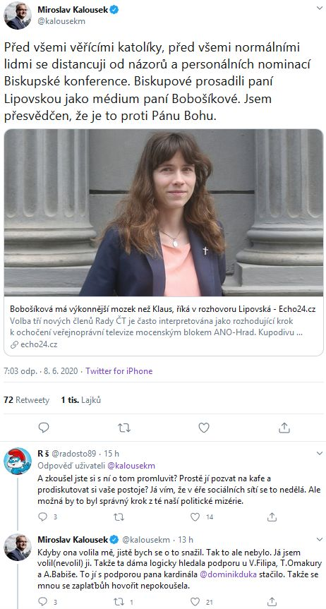 Miroslav Kalousek o ČBK a Haně lIPOVSKÉ