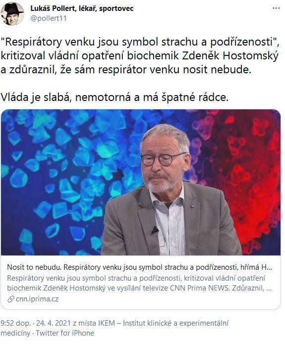 Lukáš Pollert promlouvá