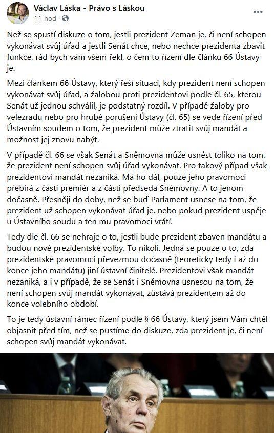 Václav Láska promlouvá
