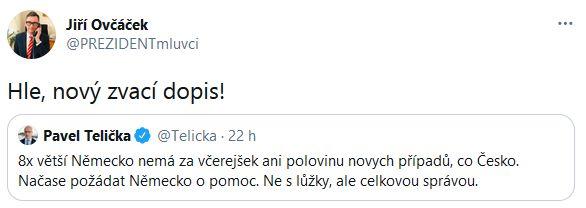Jiří Ovbčáček promluvil