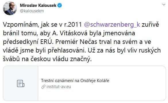 Miroslav Kalousek promlouvá
