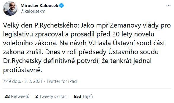 Reakce na rozhodnutí Ústavního soudu ČR