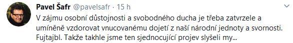 Reakce na projev Andreje Babiše