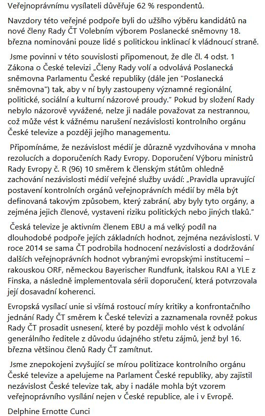 Zdeněk Šarapatka se zastal generálního ředitele ČT Petra Dvořáka