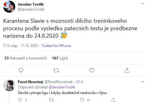 Jaroslav Tvrdík má obavy