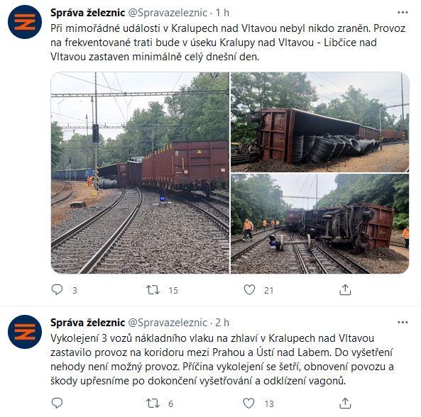 Správa železnic informuje.