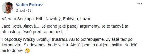 Slovní utkání u Jaromíra Soukupa
