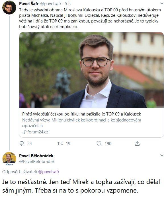 Obrana Miroslava Kalouska