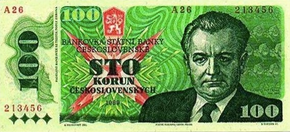 bankovka s Klementem Gottwaldem