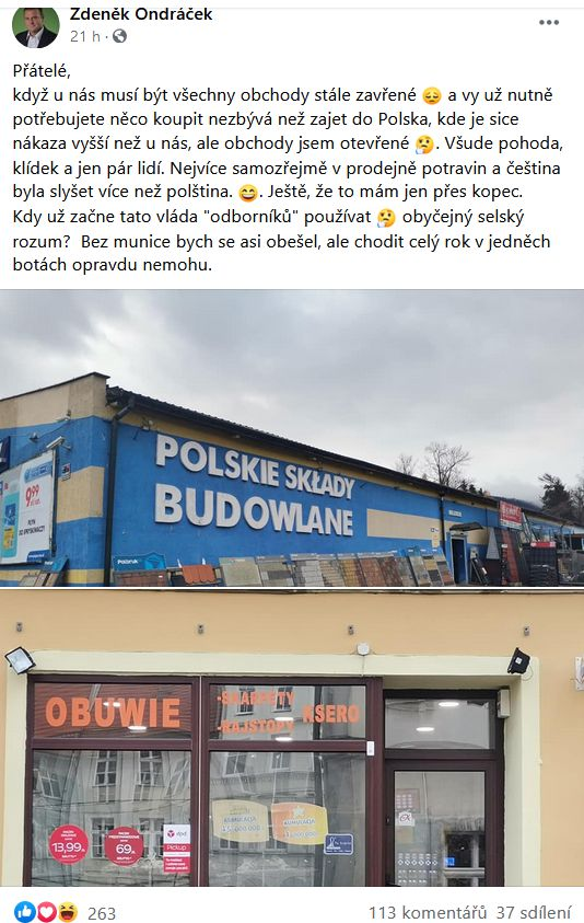 Ondráček vyrazil do Polska