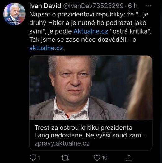 Nejvyšší soud dospěl k rozhodnutí a Ivan David se zlobí