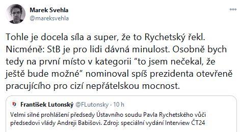 Pavel Rychetský o Andreji Babišovi